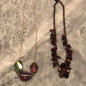 Two fashion necklaces
